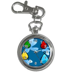 Water Balloon Blue Red Green Yellow Spot Key Chain Watches by Mariart