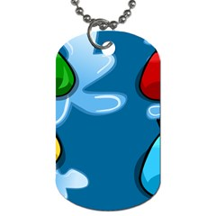 Water Balloon Blue Red Green Yellow Spot Dog Tag (one Side) by Mariart