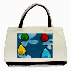 Water Balloon Blue Red Green Yellow Spot Basic Tote Bag (two Sides) by Mariart