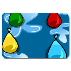 Water Balloon Blue Red Green Yellow Spot Large Doormat  by Mariart