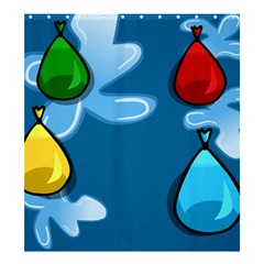 Water Balloon Blue Red Green Yellow Spot Shower Curtain 66  X 72  (large)  by Mariart