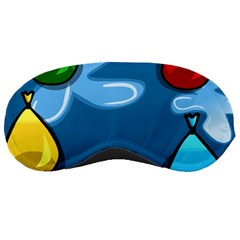 Water Balloon Blue Red Green Yellow Spot Sleeping Masks by Mariart
