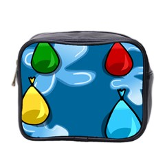Water Balloon Blue Red Green Yellow Spot Mini Toiletries Bag 2 Side by Mariart