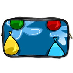 Water Balloon Blue Red Green Yellow Spot Toiletries Bags 2 Side by Mariart
