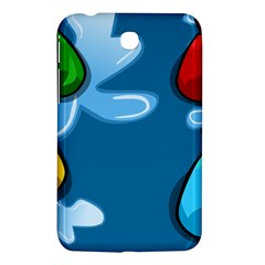 Water Balloon Blue Red Green Yellow Spot Samsung Galaxy Tab 3 (7 ) P3200 Hardshell Case  by Mariart