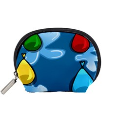 Water Balloon Blue Red Green Yellow Spot Accessory Pouches (small)  by Mariart