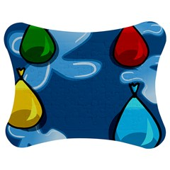 Water Balloon Blue Red Green Yellow Spot Jigsaw Puzzle Photo Stand (bow) by Mariart