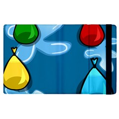 Water Balloon Blue Red Green Yellow Spot Apple Ipad Pro 9 7   Flip Case by Mariart
