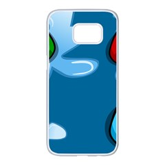 Water Balloon Blue Red Green Yellow Spot Samsung Galaxy S7 Edge White Seamless Case by Mariart