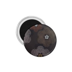 Walls Medallion Floral Grey Polka 1 75  Magnets by Mariart