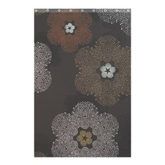Walls Medallion Floral Grey Polka Shower Curtain 48  X 72  (small)  by Mariart