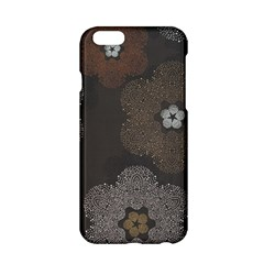 Walls Medallion Floral Grey Polka Apple Iphone 6/6s Hardshell Case by Mariart