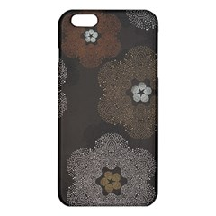 Walls Medallion Floral Grey Polka Iphone 6 Plus/6s Plus Tpu Case by Mariart