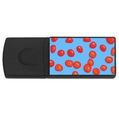 Tomatoes Fruite Slice Red Usb Flash Drive Rectangular (4 Gb) by Mariart