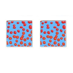 Tomatoes Fruite Slice Red Cufflinks (square) by Mariart