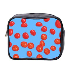 Tomatoes Fruite Slice Red Mini Toiletries Bag 2 Side by Mariart