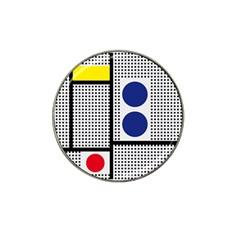 Watermark Circle Polka Dots Black Red Yellow Plaid Hat Clip Ball Marker by Mariart