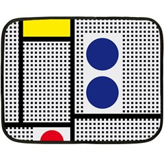 Watermark Circle Polka Dots Black Red Yellow Plaid Double Sided Fleece Blanket (mini)  by Mariart