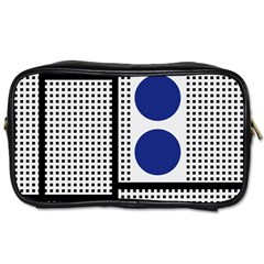 Watermark Circle Polka Dots Black Red Yellow Plaid Toiletries Bags by Mariart