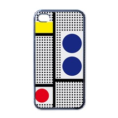 Watermark Circle Polka Dots Black Red Yellow Plaid Apple Iphone 4 Case (black) by Mariart