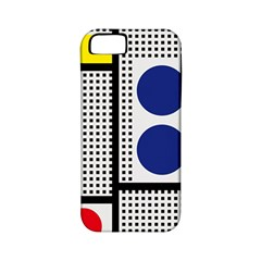 Watermark Circle Polka Dots Black Red Yellow Plaid Apple Iphone 5 Classic Hardshell Case (pc+silicone) by Mariart