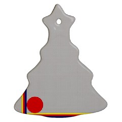 Watermark Circle Polka Dots Black Red Ornament (christmas Tree)  by Mariart