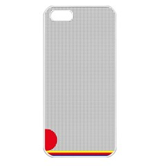Watermark Circle Polka Dots Black Red Apple Iphone 5 Seamless Case (white) by Mariart