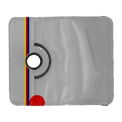 Watermark Circle Polka Dots Black Red Galaxy S3 (flip/folio) by Mariart