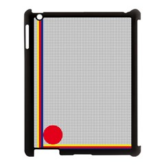 Watermark Circle Polka Dots Black Red Apple Ipad 3/4 Case (black) by Mariart