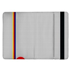 Watermark Circle Polka Dots Black Red Samsung Galaxy Tab Pro 12 2  Flip Case by Mariart