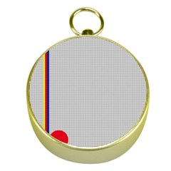 Watermark Circle Polka Dots Black Red Gold Compasses by Mariart
