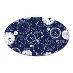 Time World Clocks Oval Magnet by Mariart
