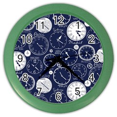 Time World Clocks Color Wall Clocks by Mariart