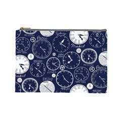 Time World Clocks Cosmetic Bag (large)  by Mariart