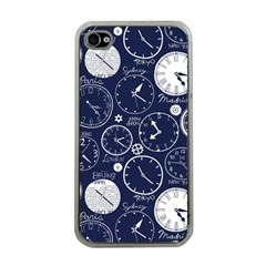 Time World Clocks Apple Iphone 4 Case (clear) by Mariart