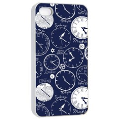 Time World Clocks Apple Iphone 4/4s Seamless Case (white) by Mariart