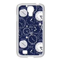 Time World Clocks Samsung Galaxy S4 I9500/ I9505 Case (white) by Mariart