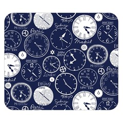 Time World Clocks Double Sided Flano Blanket (small)