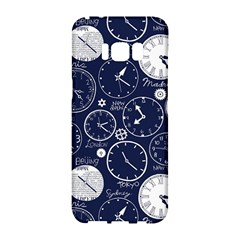 Time World Clocks Samsung Galaxy S8 Hardshell Case  by Mariart