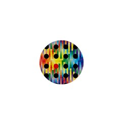 Watermark Circles Squares Polka Dots Rainbow Plaid 1  Mini Buttons by Mariart