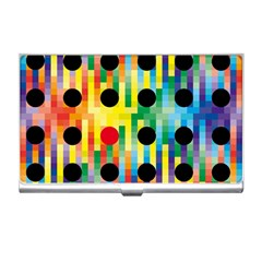 Watermark Circles Squares Polka Dots Rainbow Plaid Business Card Holders by Mariart