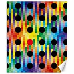 Watermark Circles Squares Polka Dots Rainbow Plaid Canvas 20  X 24   by Mariart