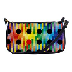 Watermark Circles Squares Polka Dots Rainbow Plaid Shoulder Clutch Bags by Mariart