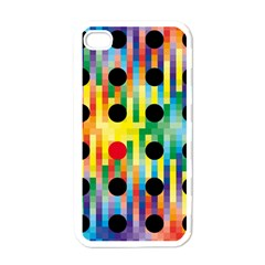 Watermark Circles Squares Polka Dots Rainbow Plaid Apple Iphone 4 Case (white) by Mariart