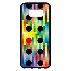 Watermark Circles Squares Polka Dots Rainbow Plaid Samsung Galaxy S8 Plus Black Seamless Case by Mariart