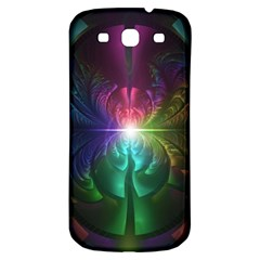 Anodized Rainbow Eyes And Metallic Fractal Flares Samsung Galaxy S3 S Iii Classic Hardshell Back Case by jayaprime