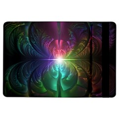 Anodized Rainbow Eyes And Metallic Fractal Flares Ipad Air 2 Flip by beautifulfractals