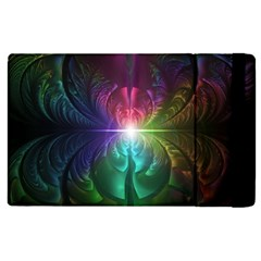 Anodized Rainbow Eyes And Metallic Fractal Flares Apple Ipad Pro 9 7   Flip Case by beautifulfractals