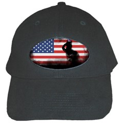 Honor Our Heroes On Memorial Day Black Cap by Catifornia