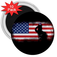 Honor Our Heroes On Memorial Day 3  Magnets (10 Pack)  by Catifornia